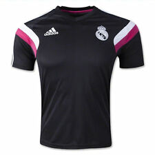 Adidas Youth Soccer Real Madrid 2014-15 Training Jersey Authentic New Black/Pink