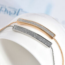 Fashion Charm Women New Gold Plated Copper Chain Crystal Bracelet Bangle Jewelry