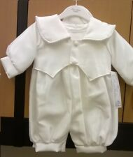 Baby Boys Christening Romper-Suit-Outfit with tail