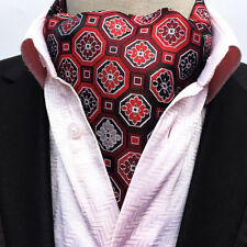 Fashion Mens Paisley Jacquard Dot Cravat Ascot Neck Ties Classic Long Silk Scarf