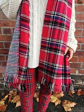New Look Red Tartan / Houndstooth Blanket Scarf