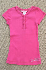 Guess Jeans 2 2T Top Tee Shirt Lace S/S Pink Toddler Girl's FREE Ship NWT