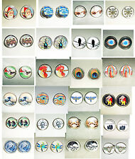 CUFFLINKS Silver Plated CUFF LINKS Altered Art THEME Image MANY CHOICES See Pics