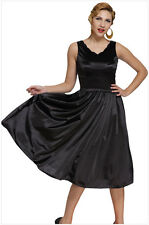 Women's Vintage Sleeveless Wave V-neck Tall Waist Cocktail Formal Swing Dress