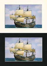 De Prins Willem Dutch Ship/Nautical/Maritime Print Cornelis de Vries A4 Cr/Bl/Wh