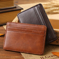 Men's Slim Leather Magic Money Clip ID Credit Card Holder Wallet Case Purse New
