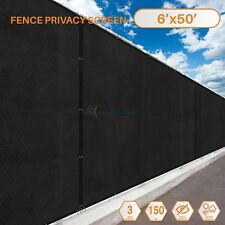 6'x50' Feet Fence Windscreen Privacy Screen Shade Cover Fabric Mesh Garden Brass