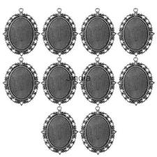 10Pcs Vintage Connector Charms Pendant Blank Tray Cabochon Base Setting 40x30mm