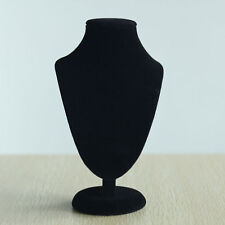 1x Black Jewelry Necklace Choker Display Stand Bust Neck Velvet Showca UMP
