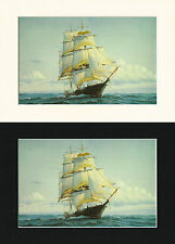 Young America Ship/Nautical/Maritime Print Mounted Cornelis de Vries A4 Bl/Cr/Wh