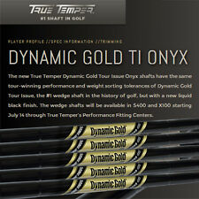 New True Temper Dynamic Gold Tour Issue Black Onyx Wedge Steel Shaft X100
