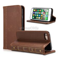 Restro Vintage book Wallet Stand Flip Case Cover for Apple iPhone 7 Plus 7 6s 8