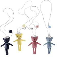 Girls Kid Lovely Cute Dots Bear Crown Pendant Necklace Rope Chain Accessories