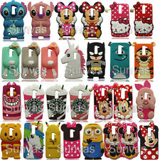 3D Cartoon Soft Silicone Phone Back Case Cover Skin Shell for LG Mobile Phones