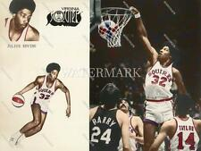 CV96 Julius Erving Dr J Rookie Virginia Squires ABA  8x10 11x14 Colorized Photo