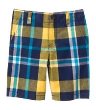 NWT Gymboree Boys FIELD EXPEDITION Sz 2T or 3T Plaid Prep Fit Shorts
