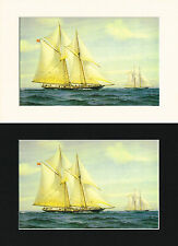 Bluenose Canadian Ship/Nautical/Maritime Print Cornelis de Vries A4 Cr/Bl/Wh