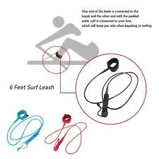 Surfboard Surfing Leash Stand Up Paddle Board Leash Coiled Cord 6 Feet 7mm E5B5