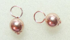 6mm 14K Rose Gold Filled Balls INTERCHANGEABLE Earring Charms SILVER, ROSE or YG