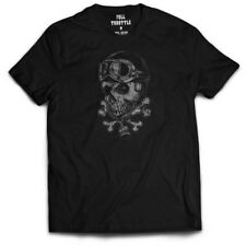 Men's Full Throttle Dead Rider T-Shirt Black Biker Motorcycle Skull Piston