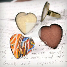 Heart/Round/Oval Ring Mountings Engagement Settings Antique Copper/Brass/Silver