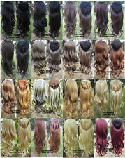 3/4 Half Wig Curly Hair Fall Synthetic Wigs for Women Top Hairpiece Any Color