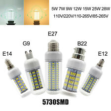 Bright LED Corn Lights Bulb Lamp E27 E26 E12 G9 E14 B22 5W 7W 9W 12W 15W 25W 28W