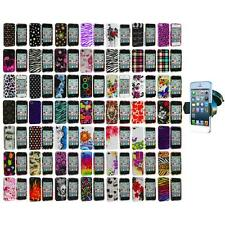 Design Color Hard Snap-On Skin Case Cover+Windshield Mount for iPhone 4 4G 4S