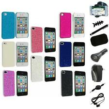 Bling Glitter Sparkly Ultra Thin Hard Back Cover+8X Accessory for iPhone 4 4G