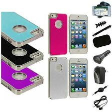 Aluminium Brushed Metal Color Hard Ultra Thin Case+8X Accessory For iPhone 5 5S