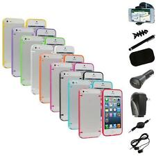 Color Clear Robot Crystal Hard Snap-On Case Cover+8X Accessory for iPhone 5 5S