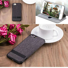 G-CASE Flip Wallet Card Holder Canvas Leather Case Cover For Apple iPhone 7 Plus