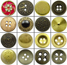 Metal Round Buttons DIY Sew Accessories Wholesale Craft Pack of 140 pieces