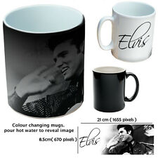 ELVIS PRESLEY black colour changing mug 10oz THE KING