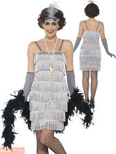 Ladies Charleston Flapper Costume Adults 1920s Gatsby Fancy Dress Womens Outfit