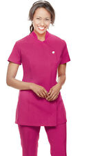 Simon Jersey Hot Pink Tunic Hairdressing Beautician Nails BNWT