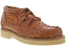 Mens El Presidente Cognac Genuine Crocodile Casual Exotic Dress Shoes