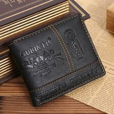 Ultrathin GUBINTU Fashion Short Student Man Wallet PU Leather Purse Money Bag GA