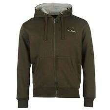 Pierre Cardin Full Zip Hoody Mens Khaki Hoodie Sweatshirt Jacket