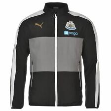 Puma Newcastle United Leisure Jacket Mens Blk/Wht Football Soccer Tracksuit Top