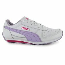Puma Fieldsprint Trainers Junior Girls White/Orchid Sports Shoes Sneakers
