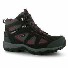 Karrimor Mountain Mid Top Walking Boots Womens Black/Pink Hiking Boots