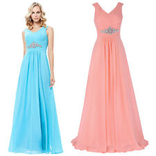 Sexy Long Chiffon Prom Maxi Wedding Evening Dress Cocktail Bridesmaid Gown Party