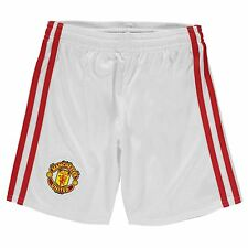 Adidas Manchester United FC Home Shorts 2016 2017 Juniors White Football Soccer
