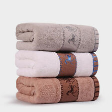 Bamboo Fiber Thickening Adult Towel Satin Jacquard Oversize Soft Face Towel Abso