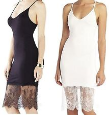 Moxeay Womens Sexy Lace Trim Long Tank Slip Top Camisole Dress