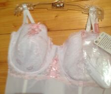 LEPEL MULTIWAY LACE PADDED BASQUE SIZE 36C COLOUR WHT/PINK