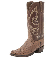 Lucchese Men's Western Heritage Ostrich Boot - Burnished Ranch/Barn