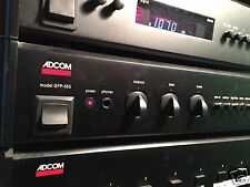ADCOM Model GFP-565 audiophile-grade preamplifier  Black with rack ears