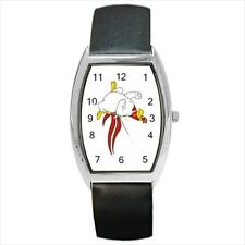Foghorn Looney Tunes Barrel Style Watch (Leather & Stainless Steel Straps)